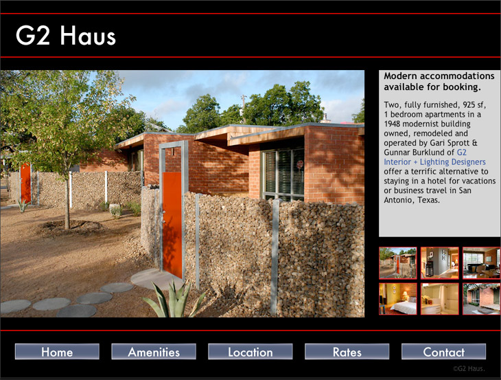 G2 Haus Home Page