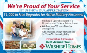 Military Ad for Wilshire Homes