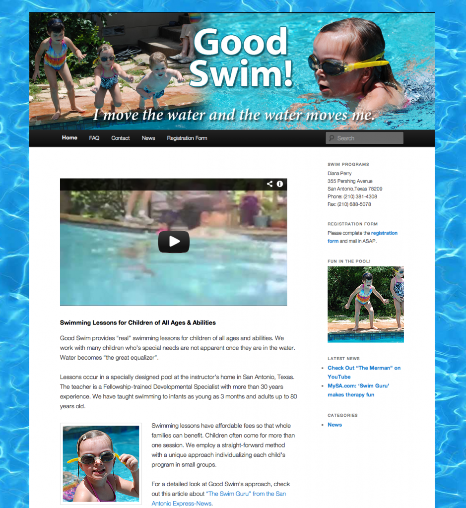 Good Swim Web Site