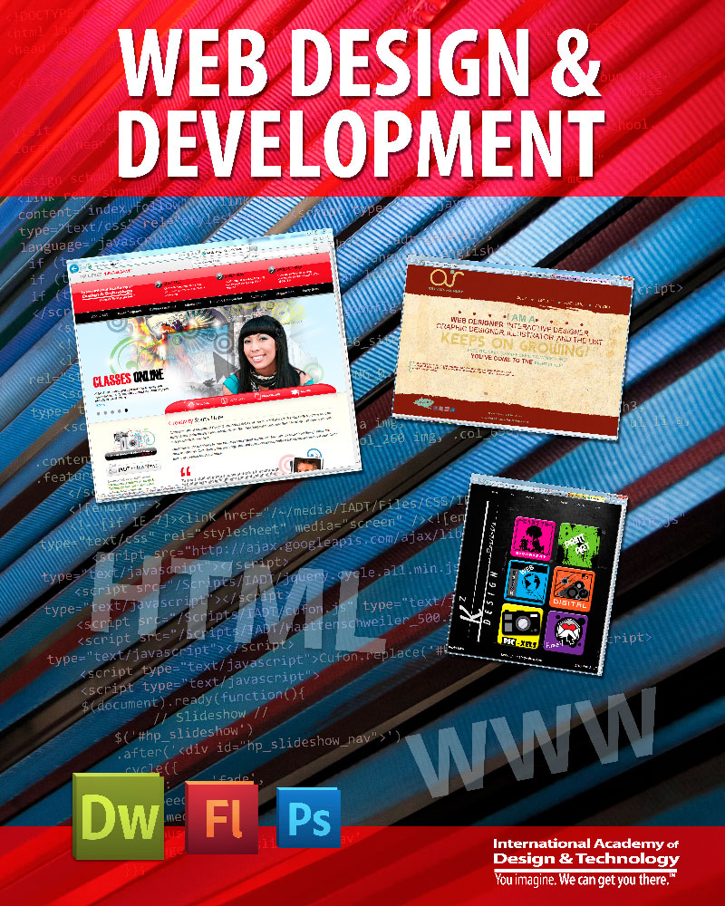 Web Design Poster | International Academy of Design & Technology