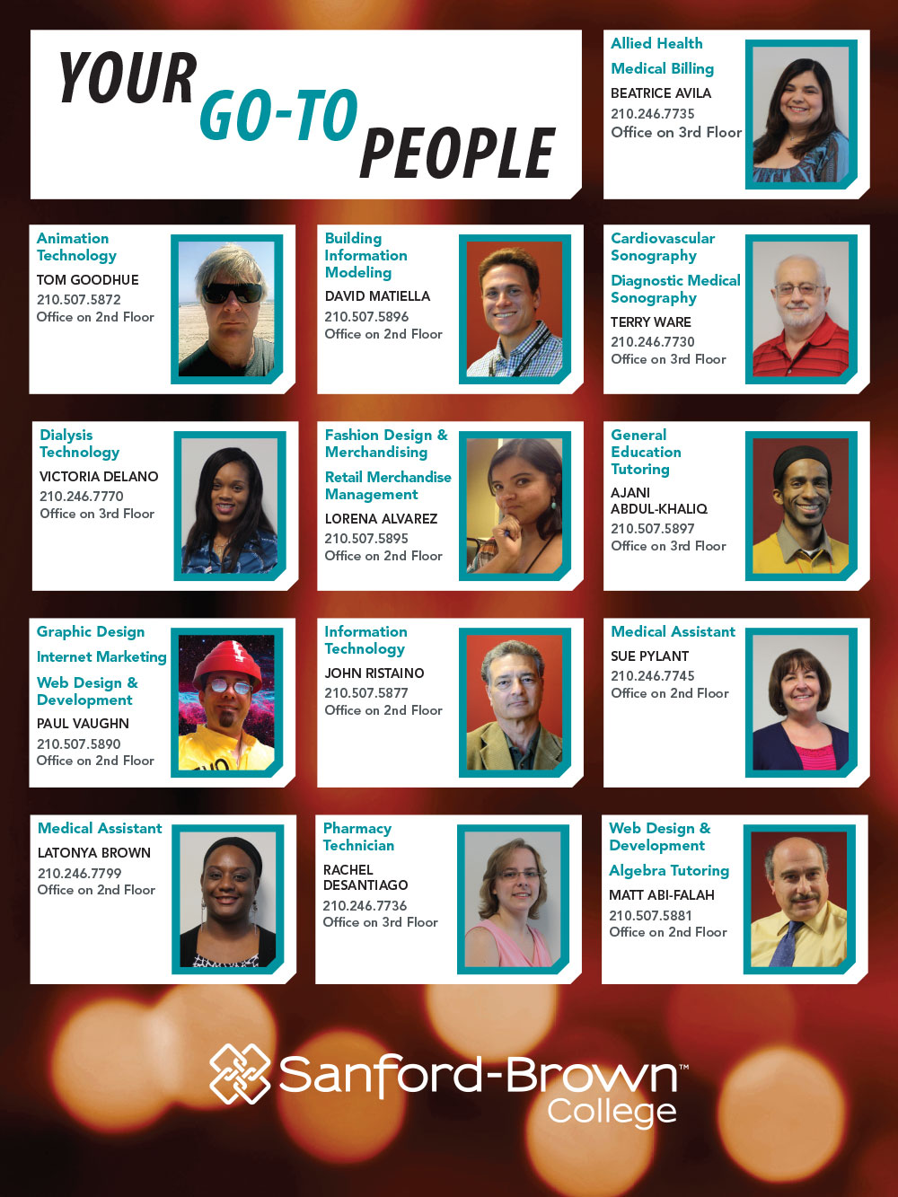 Go-To People Poster | Sanford-Brown College
